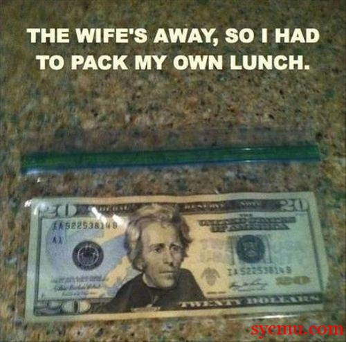 How to pack lunch when wife's away