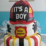 Fire Fighter Themed Baby Shower Cake