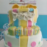 Gender Neutral Gift Box Baby Shower Cake