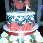 Parents_Pushing_Carriage_Stroller_Baby_Shower_Custom_Cake_Sydneys_Sweets
