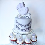 Carriage+Stroller+Baby+Shower+Cake