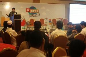 Speaking at G-Day X, Peshawar