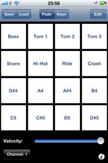 Free iOS MIDI Controller Pad