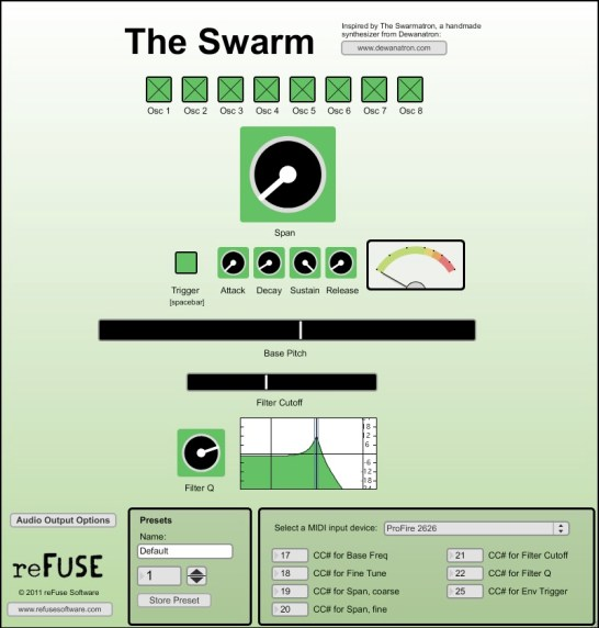 The Swarm Inspired by Trent Reznor's Swarmatron synthesizer