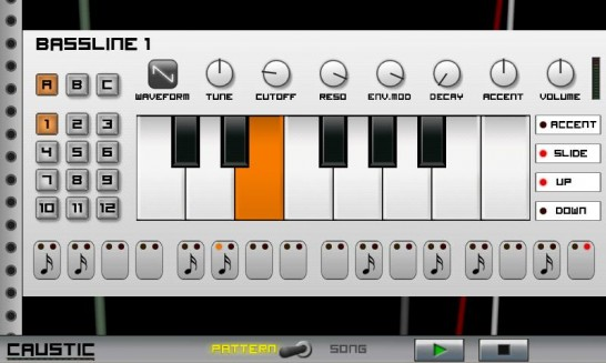 Android Synthesizer Caustic Music Rack