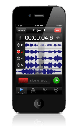 Firestudio multitrack recorder for iPhone