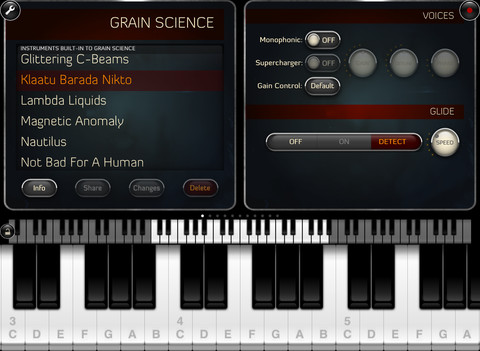 granular synth for ipad Grain Science