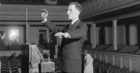Leon Theremin plays his invention.