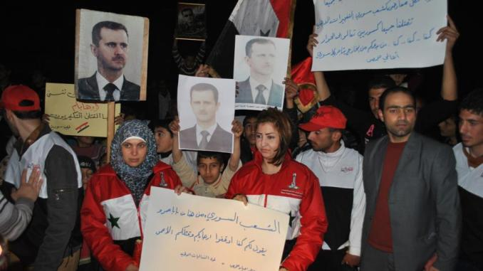Protest against FSA in Homs