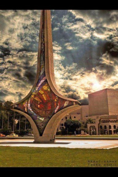 The Omayyad Sword in Omayyad Square in Damascus