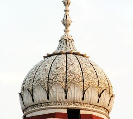 Dome of a mosque on a bright day
