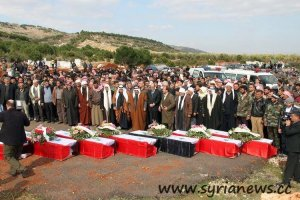 From the group funerals of Maan's second massacre victims