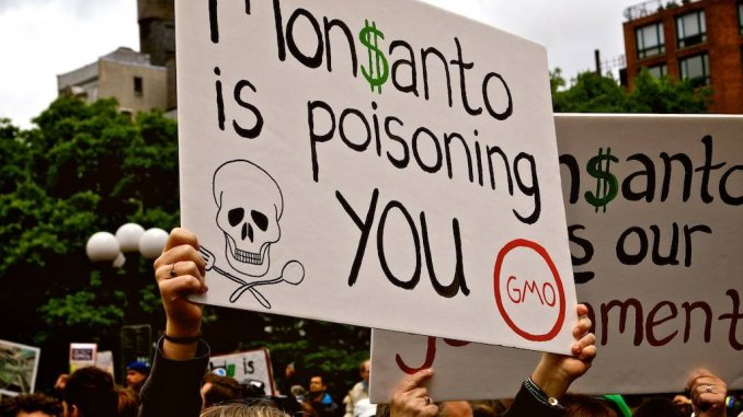 Protest against Monsanto GMO