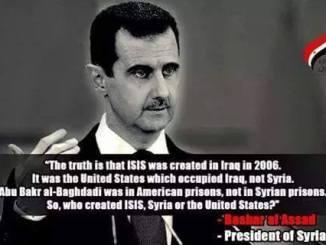 Assad isis quote