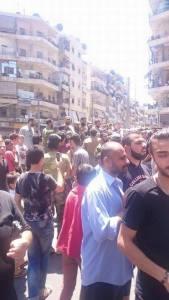 syrians celebrating