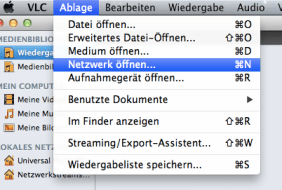 VLC netzwerk öffnen