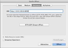 VLC Network Tab