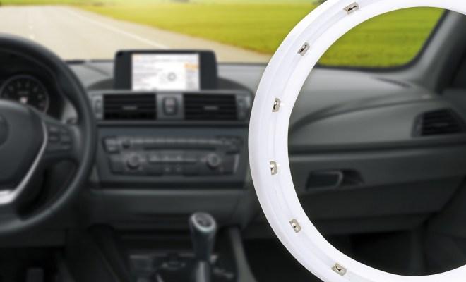 the inside or interior of a modern car ,  3d illustration