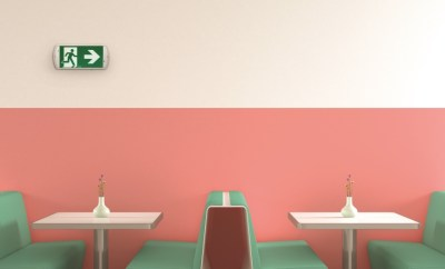 Interior of American Diner, 3D Rendering