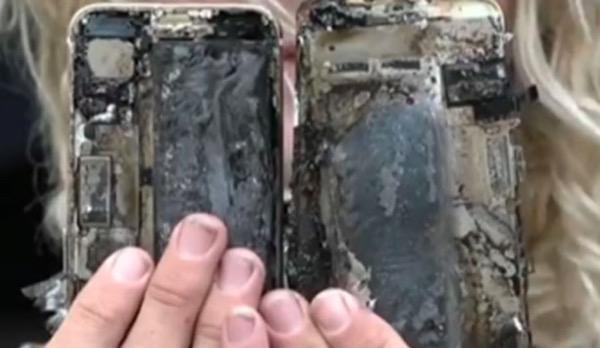 انفجار هاتف آيفون 7 للمرة الثالثة و آبل تحقق في الأمر
