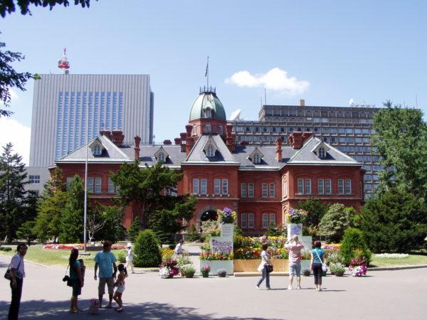 Das schöne alte Rathaus von Sapporo
