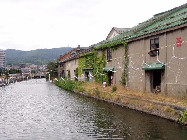 Alte Lagerhäuser am Hafen