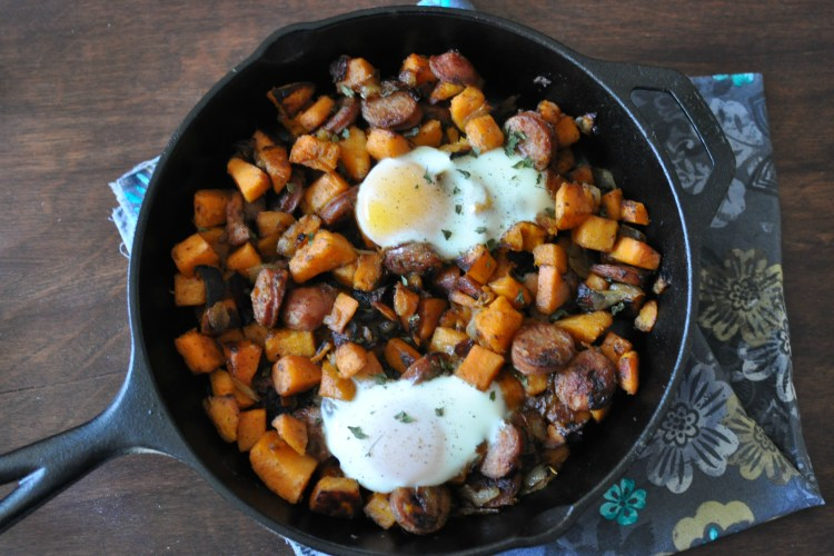 Sweet Potato Hash with Chicken Apple Sausage - Tabitha Talks Food