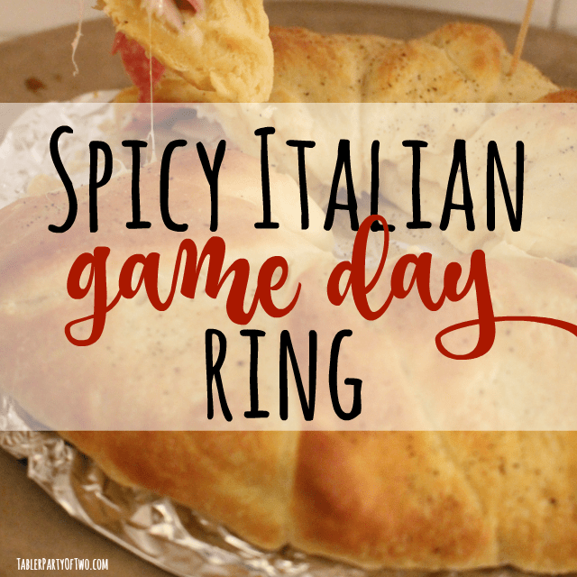 Spicy Italian Game Day Crescent Ring... so delish!
