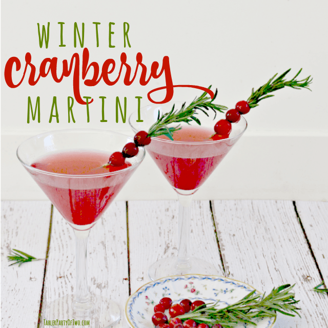 OMG-- this holiday cocktail is so delicious! The recipe is super easy to make for a few or for a crowd! Serve it at your holiday party or Christmas Eve gatering and I promise your guests will LOVE IT! TablerPartyOfTwo.com