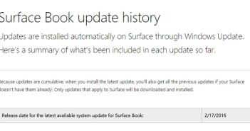 Surface Pro 4 software update bug