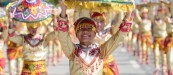 Tribu Manubiaw performer smiles during the Kiay Kiay sa Dalanon