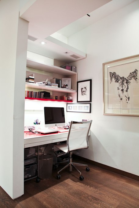 Office - A work station was created to maximize both space and efficiency.