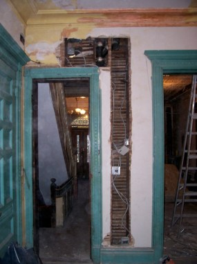 Greene St. Brownstone-View of doorway leading into front hall.