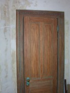 Greene St. Brownstone-Before image of door.