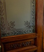 Greene St. Brownstone-This is an example of newly fabricated and installed of frosted glass.