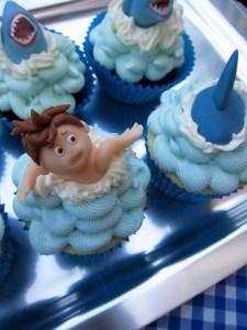 Shark cupcakes 2