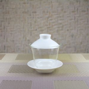 Glass Gaiwan with Ivory Porcelain