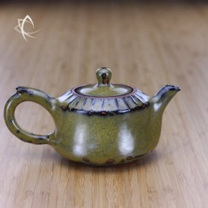 Weathered Tea Dust Glaze Larger Teapot Featured View