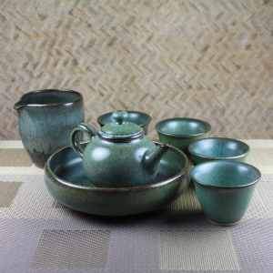 Moondust Green Tea Set for 4 Featured