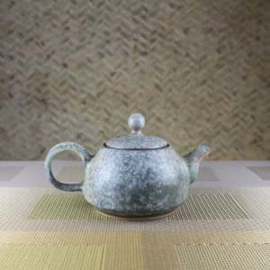 Moondust Grey Smaller Bell Teapot Side View