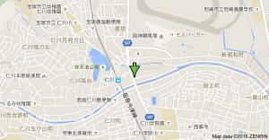 京もつ鍋 朱々 地図