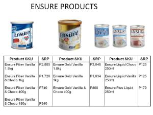 Ensure to Endure 2 Participating Products