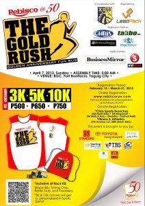 Rebisco Run The Gold Rush 2013 Race Results