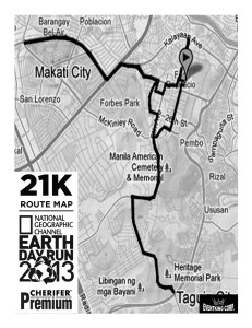 Earth Day Run 2013 21K Map