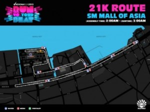 Rexona Run Map 2013