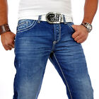 RBC by CIPO  BAXX USED LOOK DENIM HERREN JEANS DICKE NAHT CLUBWEAR HOSE RB 92