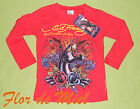 ED HARDY Christian Audigier T-Shirt longsleeve Jaguar Girls rot 152 158 10 12 XL