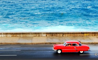 travel independently to cuba vintage car malecon taking to the open road