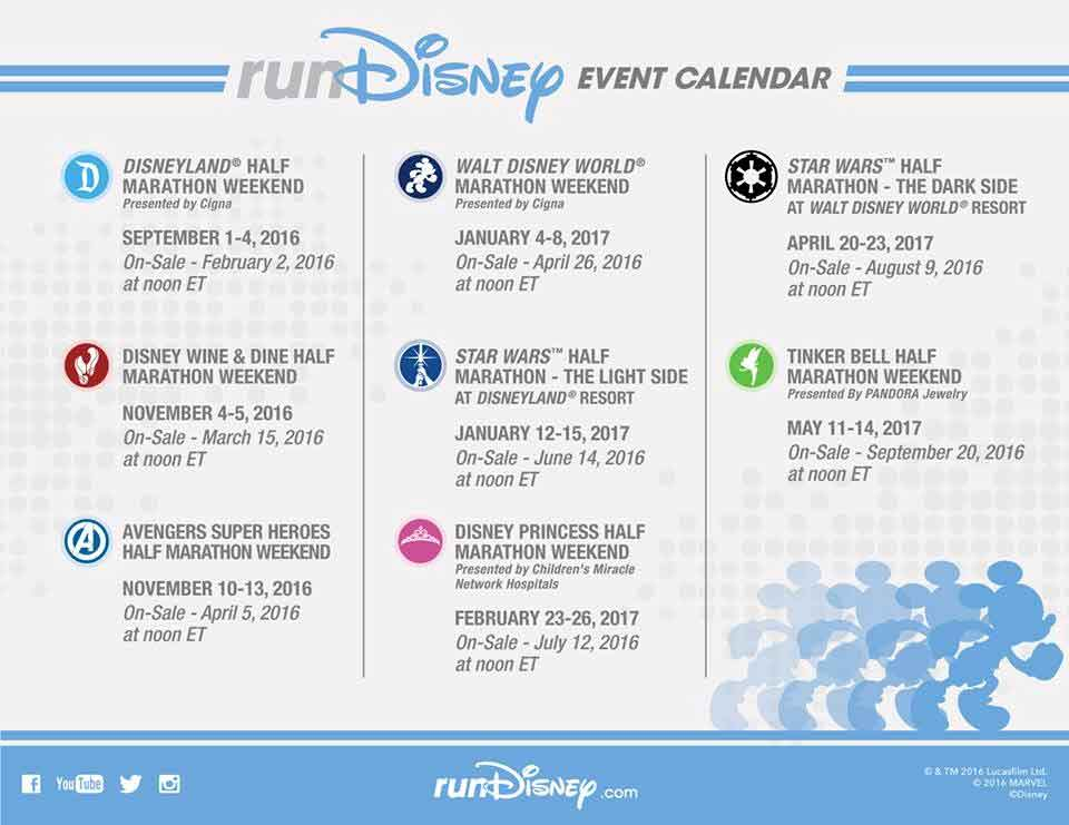 ! Check out the 2016-2017 runDisney event schedule. The events ...