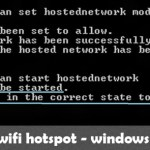 The hosted network could not be started